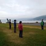 「諏訪湖で朝活。太極拳」12回目