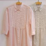 ラメチェックシャツワンピース|haupia