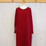 miho umezawa|WOOL WHOLE GARMENT long dress -Red-