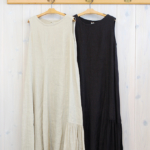 miho umezawa|TWILL LINEN asymmetry dress