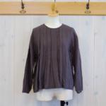 miho umezawa|ORIHIME LINEN random tuck blouse -Gray-