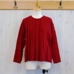 miho umezawa|ORIHIME LINEN random tuck blouse -Red-