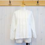miho umezawa|ORIHIME LINEN random tuck blouse -White-