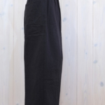 miho umezawa|NATURAL WASH LINEN tuck wide pants -black-
