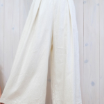 miho umezawa|SILK LINEN TWILL wide pants -off white-