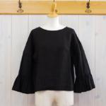 miho umezawa|SUN DRY LINEN frill sleeve blouse -Green-