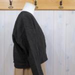 miho umezawa|LINEN BAMBOO CLOTH off shoulder jacket -brown-