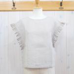 miho umezawa|SUN DRY LINEN frill sleeve blouse -sand-