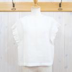 miho umezawa|SUN DRY LINEN frill sleeve blouse -white-