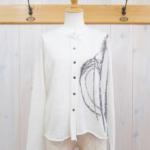 crea|Jacquard cardigan -White-