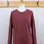 miho umezawa|SOFT COTTON pullover knit -burgundy-
