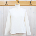miho umezawa|COTTON LINEN dolman sleeve knit -white-