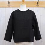 miho umezawa|UNTWISTING LINEN cut off blouse -black-