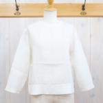 miho umezawa|UNTWISTING LINEN cut off blouse -white-