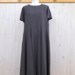 miho umezawa|SILK LINEN CLOTH panel flare dress -fog-
