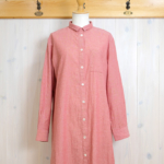 arsa collection|コットンシャンブレー シャツワンピ -Red-