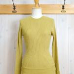 nume|コットンリブ丸襟プルオーバーSOLID -Yellow-
