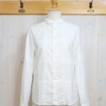 sunao kuwahara|チェッカーオックス パッチワークシャツ -White-