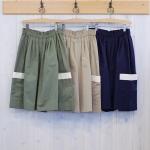 CORNER plus|ビッグポケット スカート風パンツ
