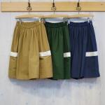 CORNER plus|ビッグポケット スカート風パンツ 60/40クロス