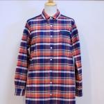 isato|ヨーク切り替えチェックロングシャツ