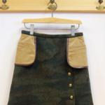 isato|迷彩ジャガード フラシポケット付きスカート