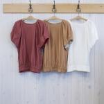 isato|タックバルーン袖付カットソー