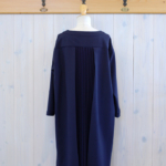 "KELEN|Back Pleats Dress ""Faill"" -Navy-"
