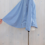"KELEN|Back Flared Blouse ""Flann"" -BlueGingham-"