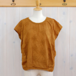 "KELEN|Flower Tuck Lace Tops ""Vie Flower"" -CamelBrown-"