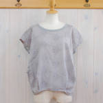 "KELEN|Flower Tuck Lace Tops ""Vie Flower"" -Gray-"