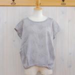 "KELEN|Flower Tuck Lace Tops ""Vie Flower"" -Gray-"