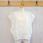 "KELEN|Flower Tuck Lace Tops ""Vie Flower"" -Off White-"