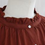 "KELEN|Frill Collar Blouse ""Mimi"" -RedBrown-"