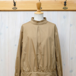 "KELEN|Front Tuck Frill Collar Blouse ""Resya"" -Beige-"