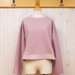 "KELEN|RollUp Sleeve Tops ""Chamy"" -SmokePink-"