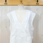 "KELEN|Wide Design Vest ""Sui"" -White-"