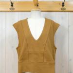 "KELEN Wide Design Vest ""Sui"" -YellowCamel-"