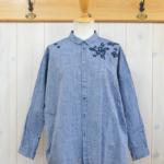 nume|コットン刺繍シャツ -Navy-