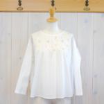 nume|コットン刺繍Tブラウス -Off White-