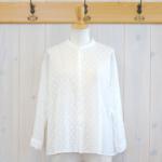 nume|コットンドットボイルシャツ -Off White-