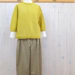 nume|WGギマコットン7分袖プルオーバー -Yellow-