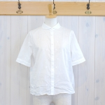 TINA and SUSIE|ランダム水玉刺繍 5分袖シャツ
