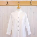 TINA and SUSIE|ボタン刺繍 7分袖シャツ