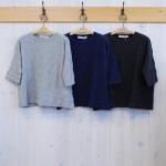 TINA and SUSIE|TOP杢ドット 5分袖Tシャツ