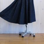 vm|デニム タック ヘムライン スカート