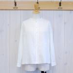 WashWash|ローンガーゼ タック刺繍シャツ
