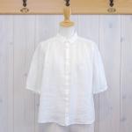 WashWash|フレンチリネンワッシャー 半袖シャツ